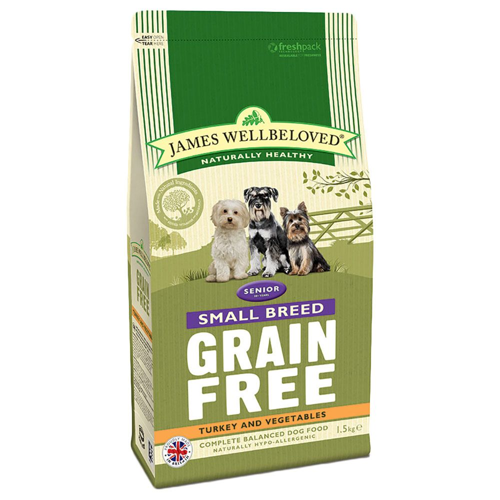 James Wellbeloved Senior Small Breed Grain Free - Turkey & Veg - 1.5kg
