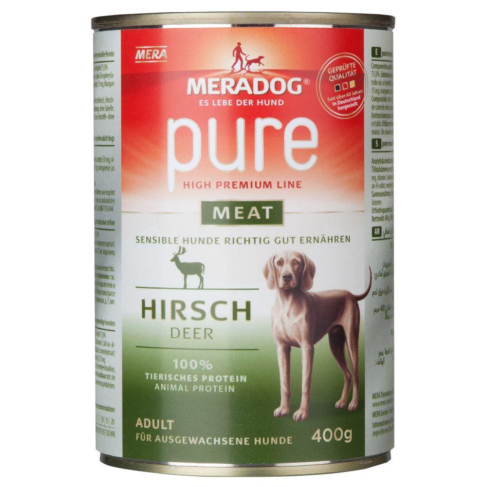Meradog pure meat Dose 6 x 400 g - Hirsch