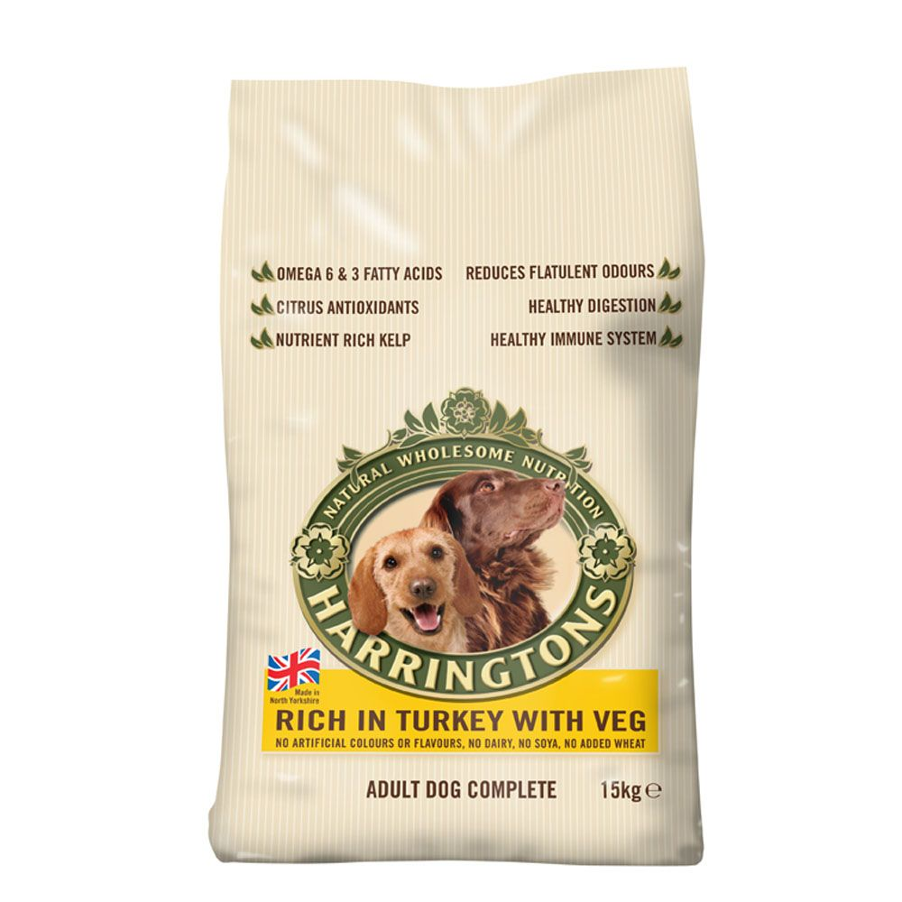 12kg/15kg Harringtons Dry Dog Food - 9 x 160g Training Treats Free!* - Adult Rich in Salmon & Potato