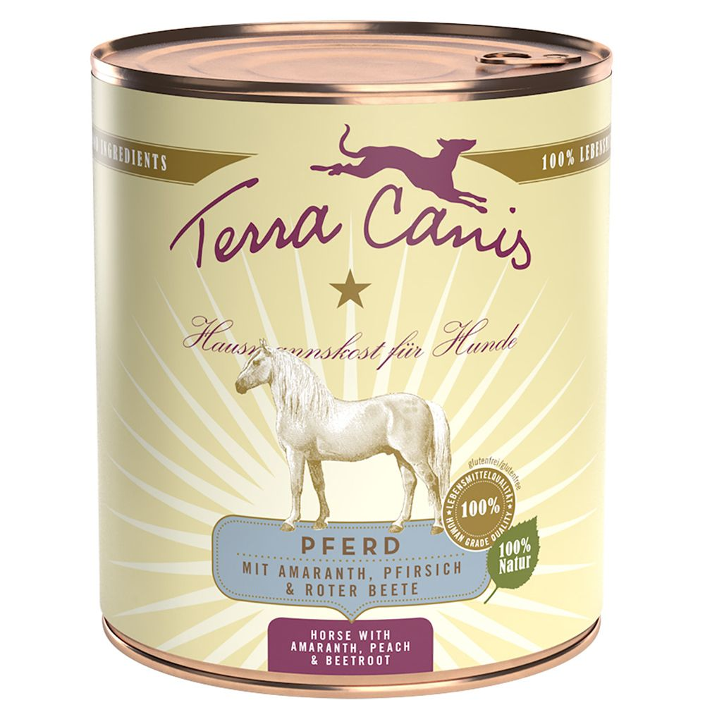 6x800g cheval Terra Canis - Aliment pour Chien