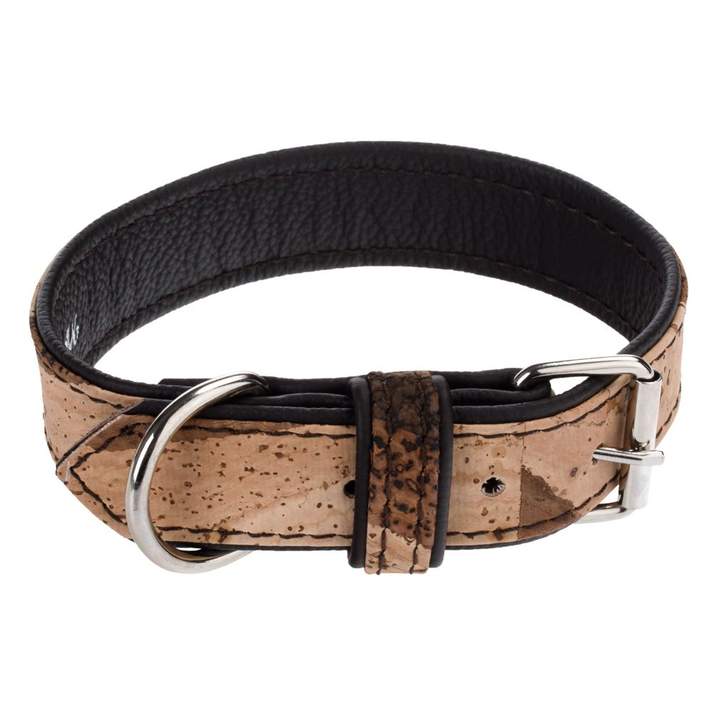 Heim Cork & Leather Tiger Dog Collar