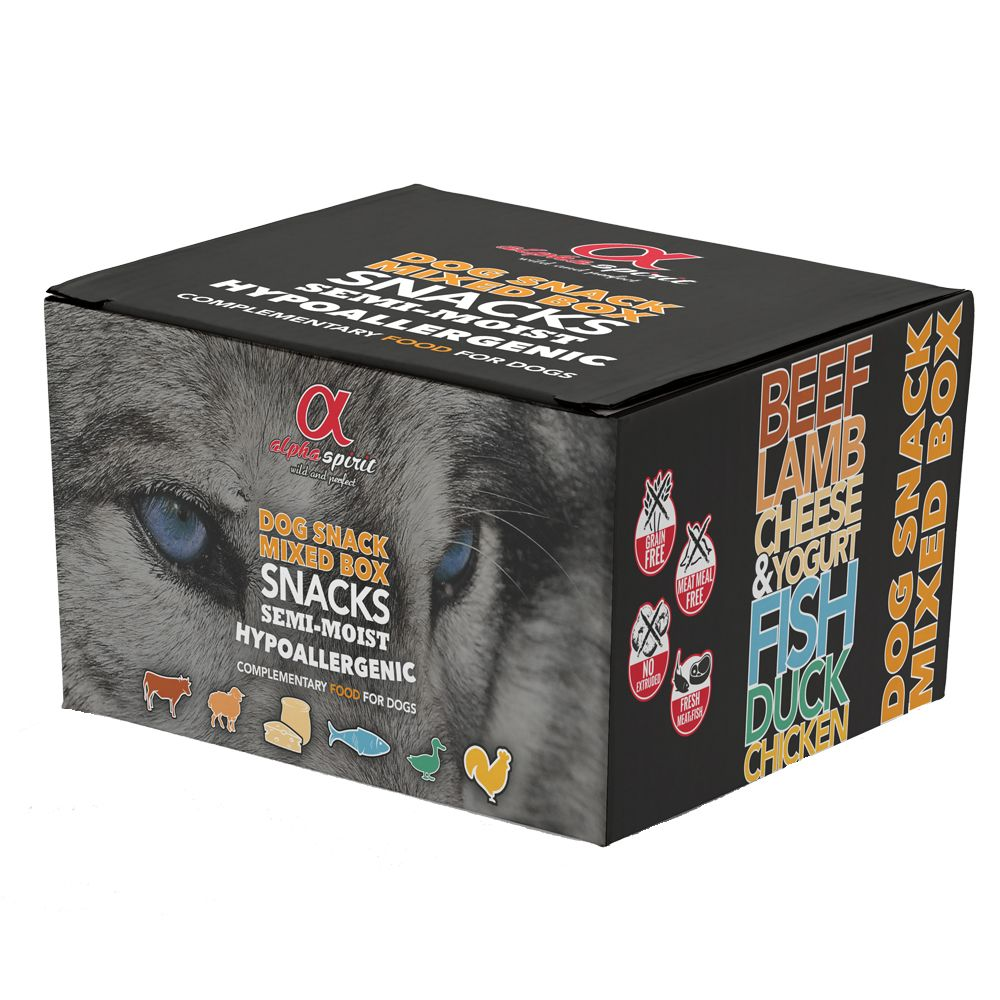 Mixed Variety Box Alpha Spirit Dog Snacks