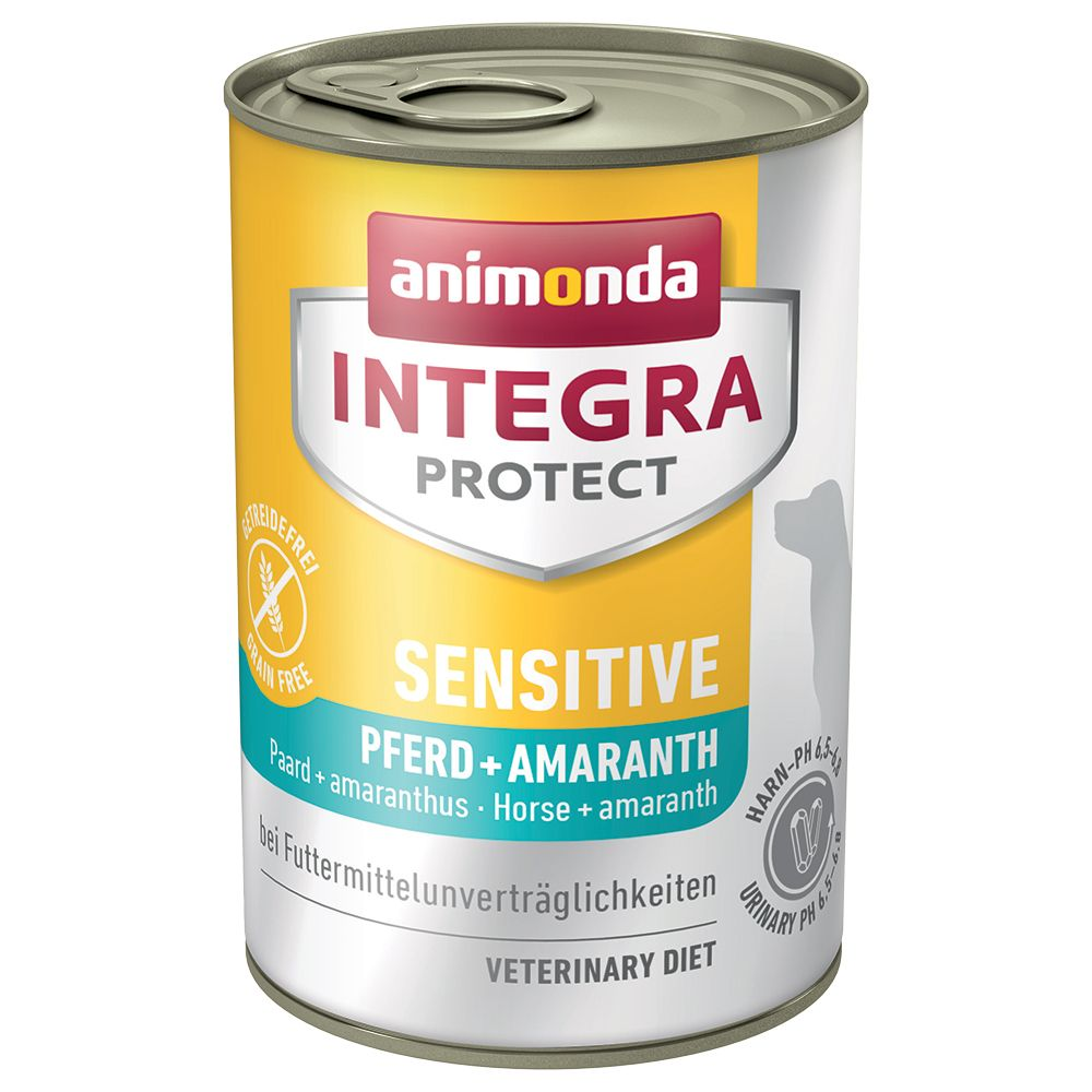 Animonda Integra Protect Sensitive i konservburk - Häst & amarant 6 x 400 g