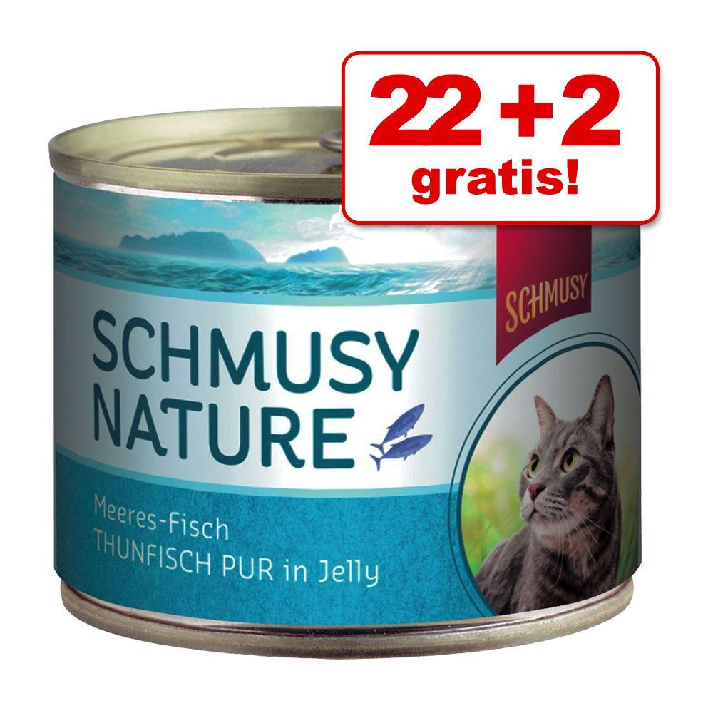 22 + 2 gratis! Schmusy Nature Ryba w puszkach, 24 x 185 g - Tuńczyk