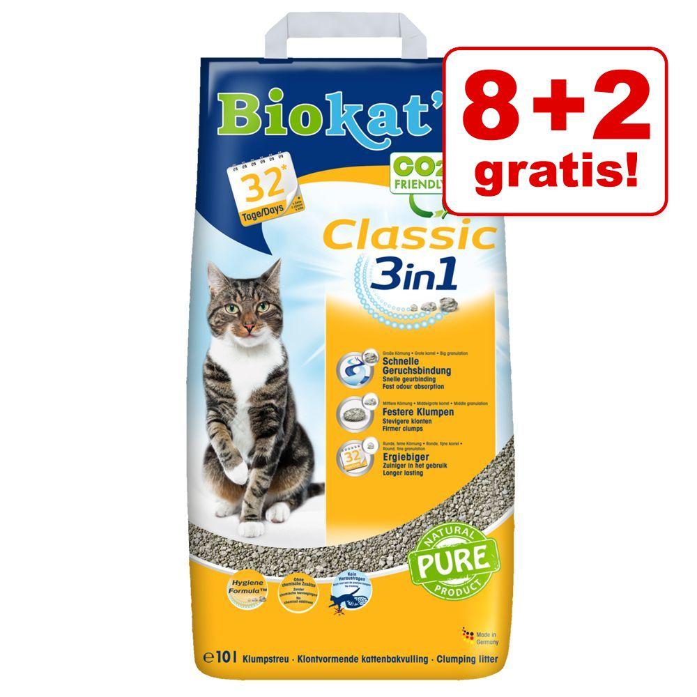 8 l + 2 l på köpet! Biokat's Classic 3in1 - Classic 3in1