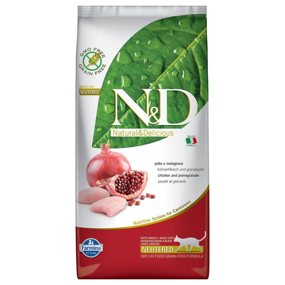 Farmina N&D getreidefrei Neutered mit Huhn & Granatapfel  - Sparpaket: 2 x 5 kg