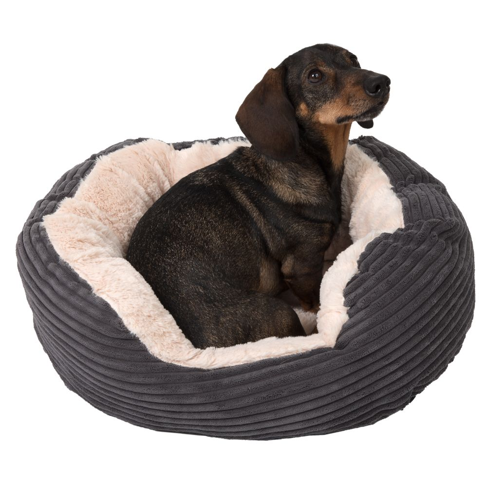 Rosewood Jumbo Dog Bed - Grey 51x43x15cm (LxWxH)
