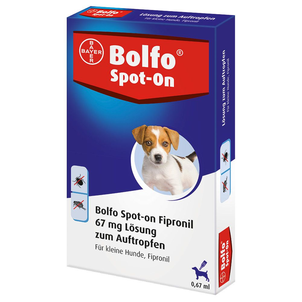 Bolfo Spot-on kleine Hunde bis 10 kg - 3 Pipett...