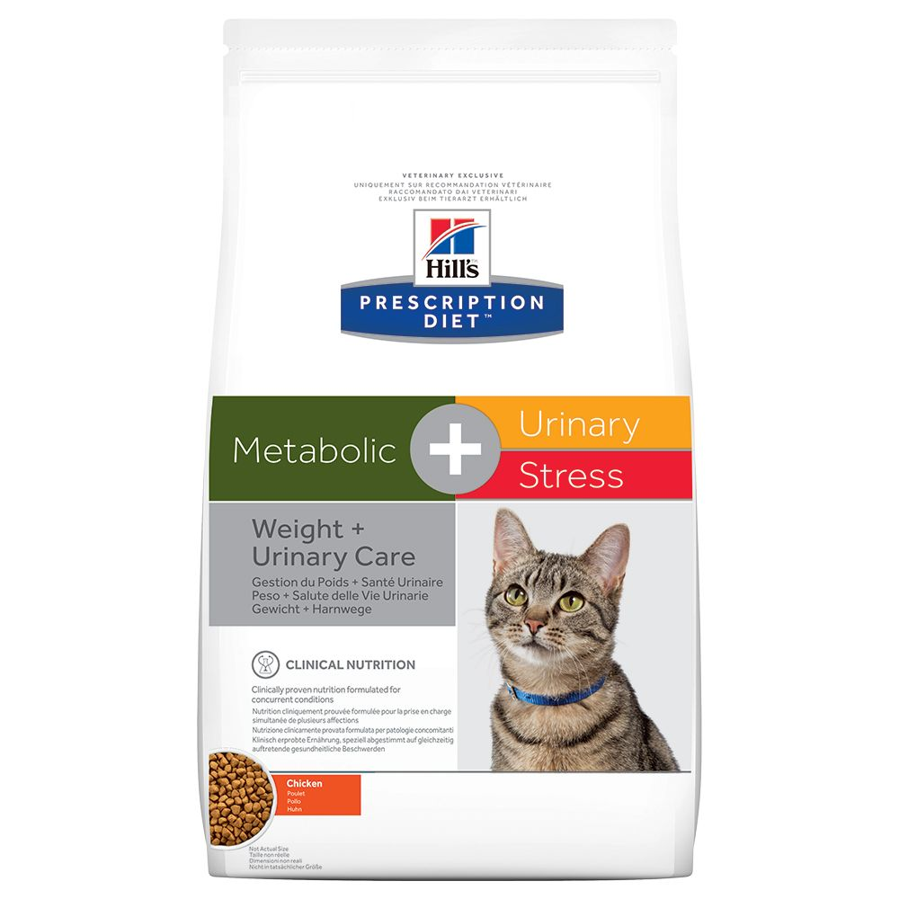Metabolic + Urinary Stress Feline Hill's Prescription Diet Dry Cat Food