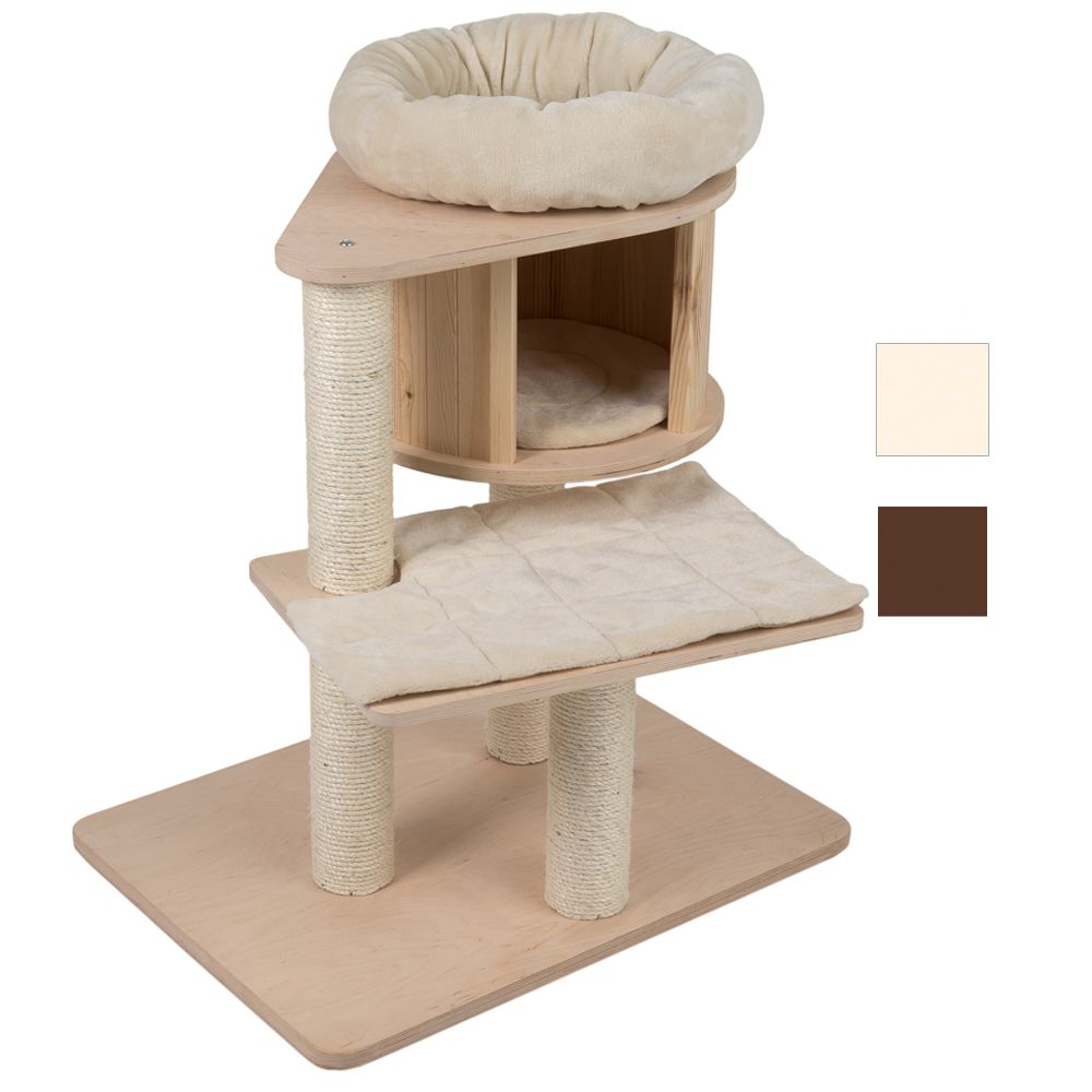 Cream Mini Natural Paradise Cat Tree