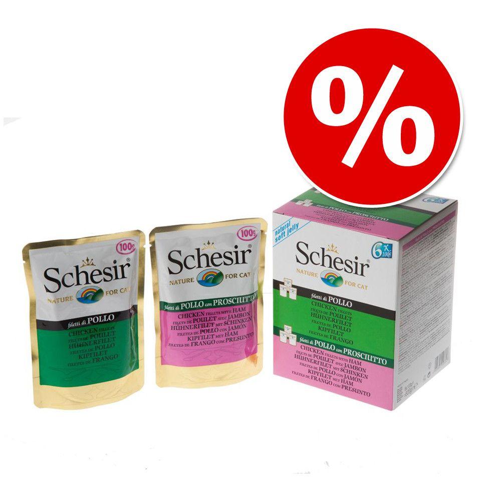 18 x 100 g Pakiet próbny Schesir w galarecie w super cenie! - Pakiet z tuńczykiem