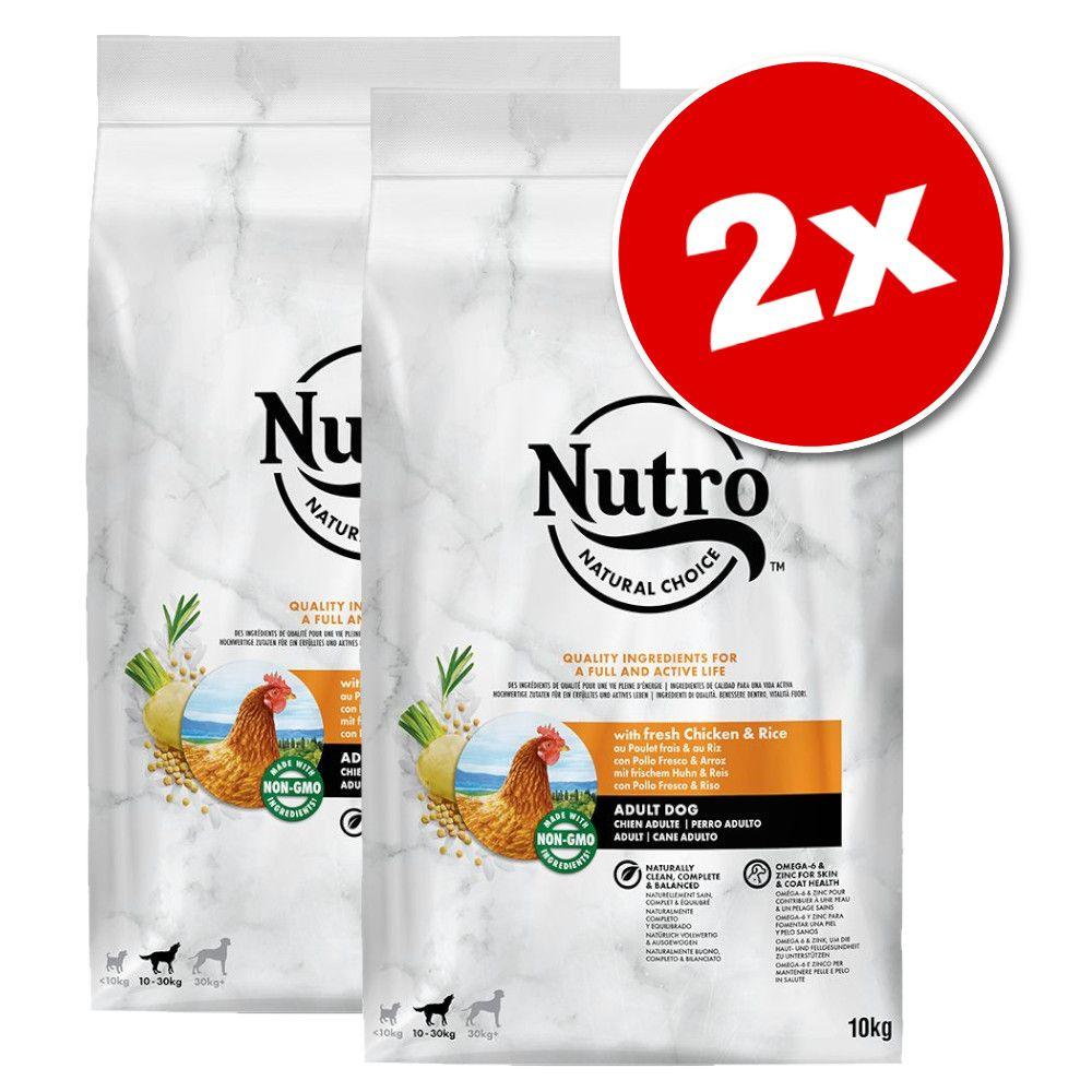 Lot Nutro Core pour chien - Adult 30 kg+ agneau, riz (2 x 10 kg)