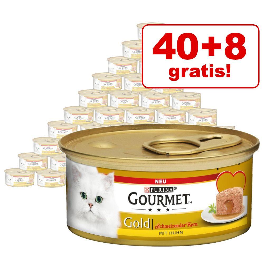 40 + 8 på köpet! 48 x 85 g Gourmet Gold våtfoder - Fine Paté - Kyckling