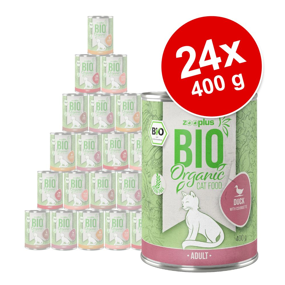 Ekonomipack: zooplus Bio 24 x 400 g - Eko-kyckling med morötter