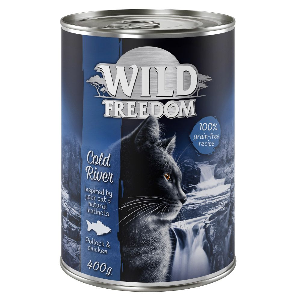 Wild Freedom Adult 6 x 400 g - Cold River - Pollock & Chicken