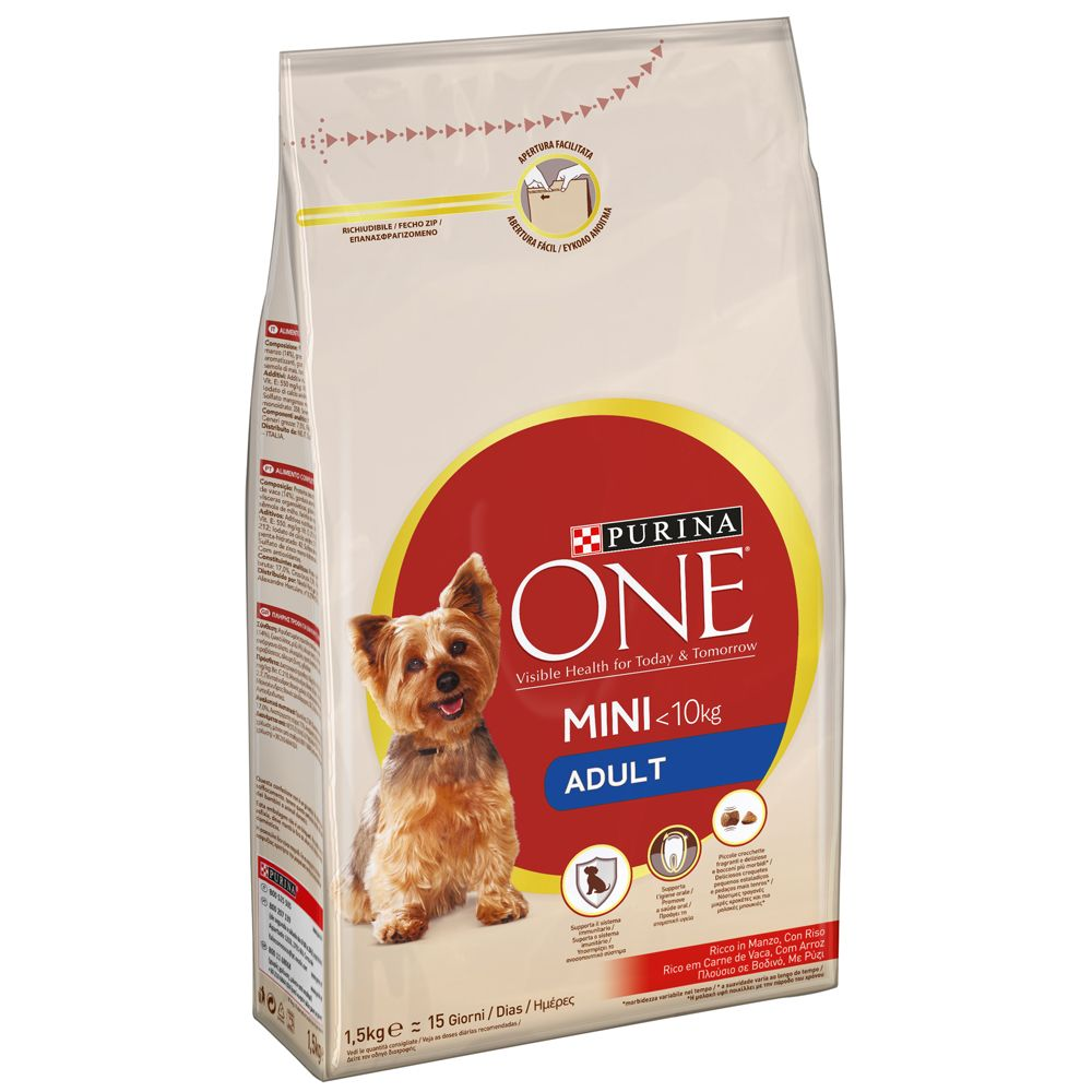 Purina One Small Breed Adult Beef & Rice
