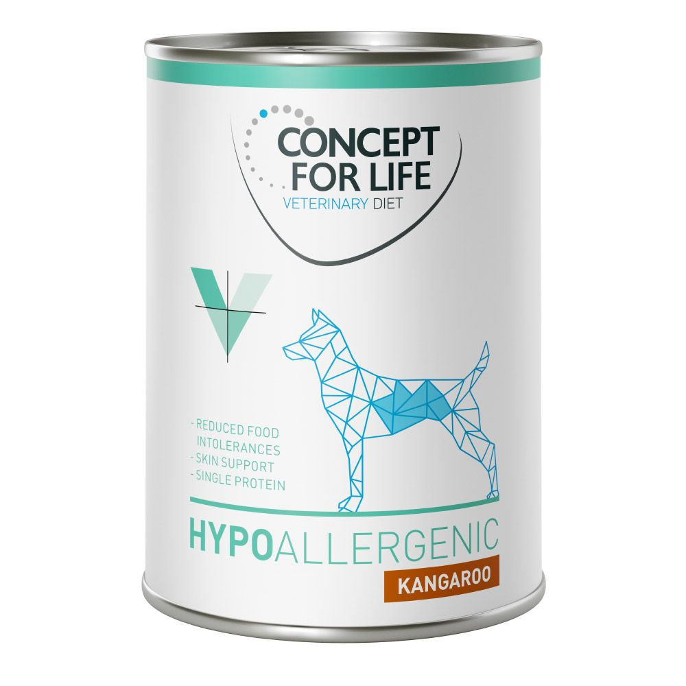 Concept for Life Veterinary Diet Hypoallergenic kangourou pour chien – 24 x 400 g Concept for Life VET Zooplus