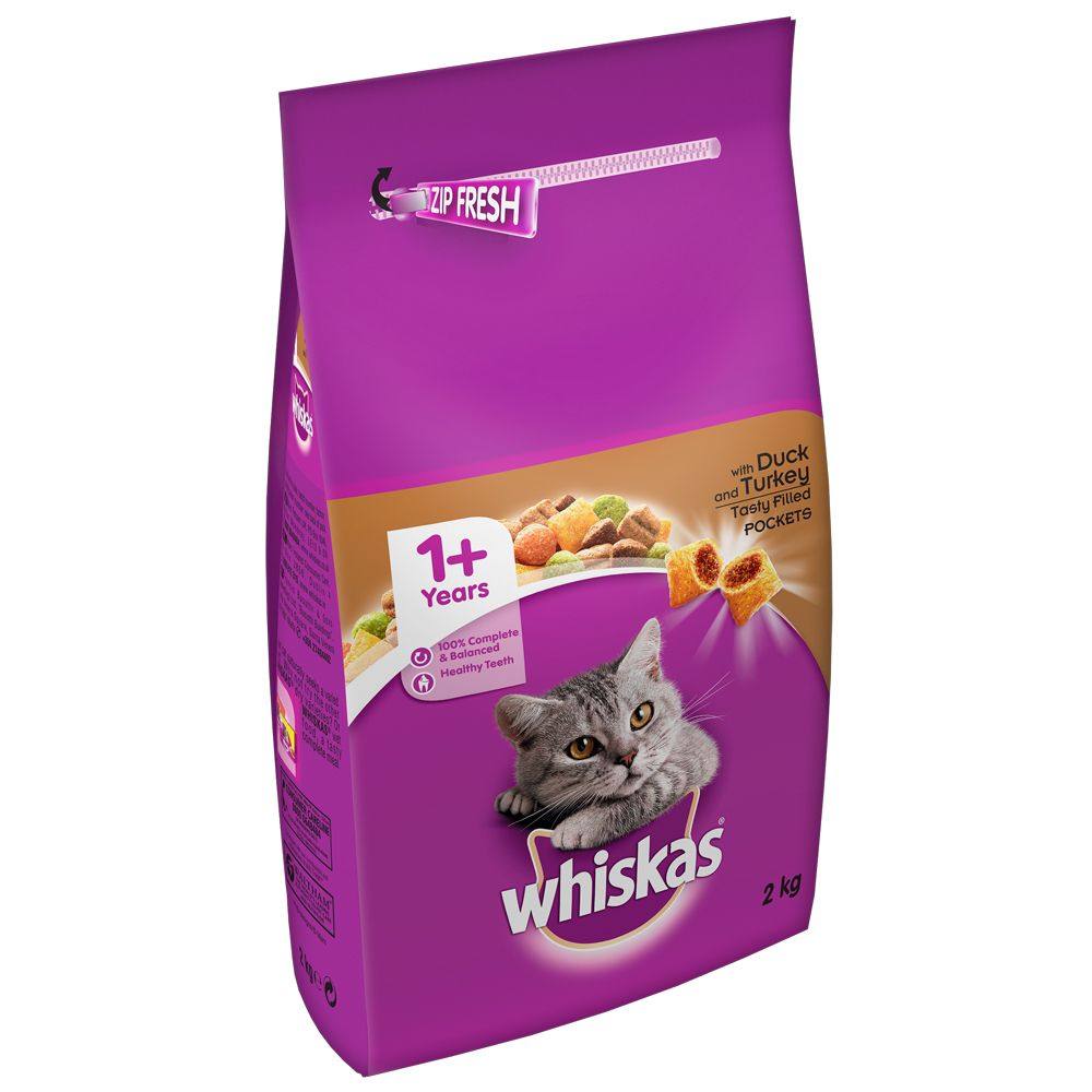 2kg Whiskas 1+ Duck & Turkey