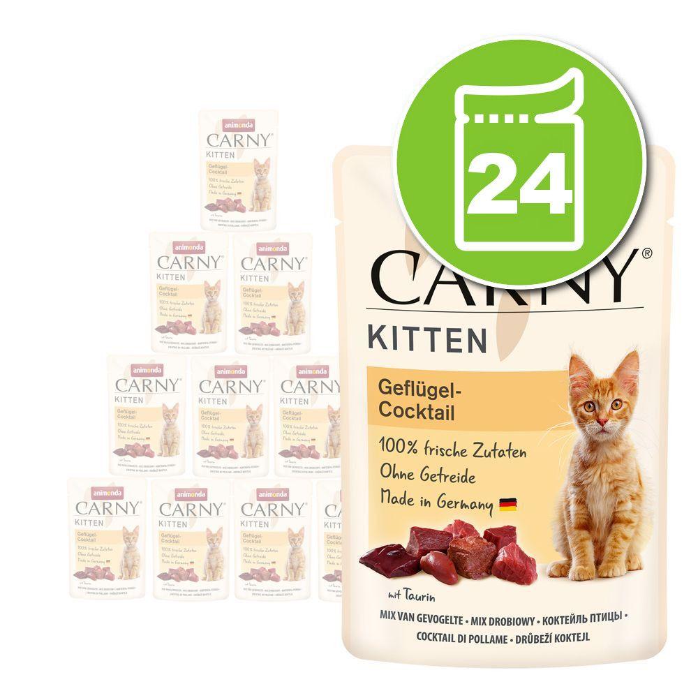 24x85g Kitten cocktail de volailles Animonda Carny - Pâtée pour chat
