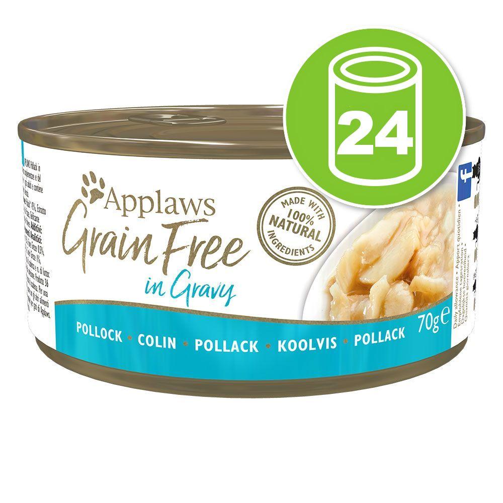 24x70g Applaws Grain Free en sauce boeuf - Pâtée pour chat