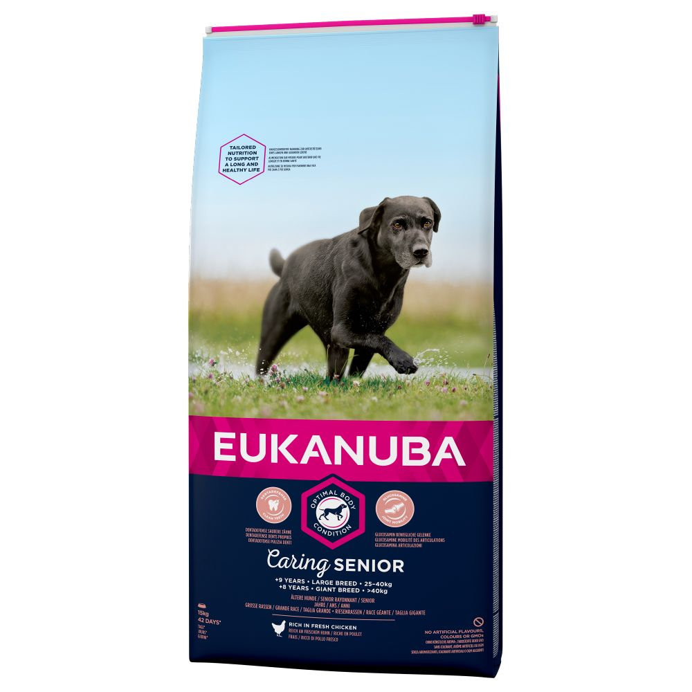 Image of Eukanuba Caring Senior Large Breed Huhn - 15 kg