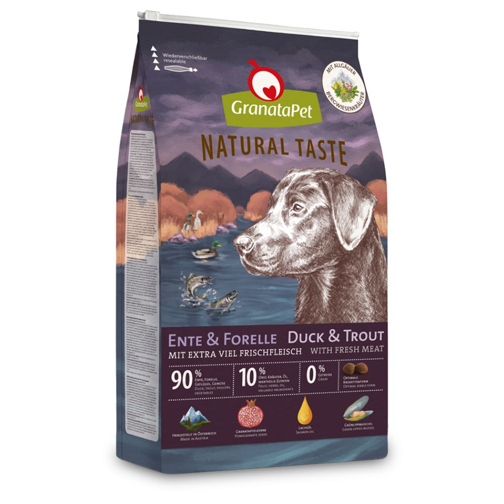 GranataPet Natural Taste Anka & öring torrfoder - Ekonomipack: 2 x 12 kg