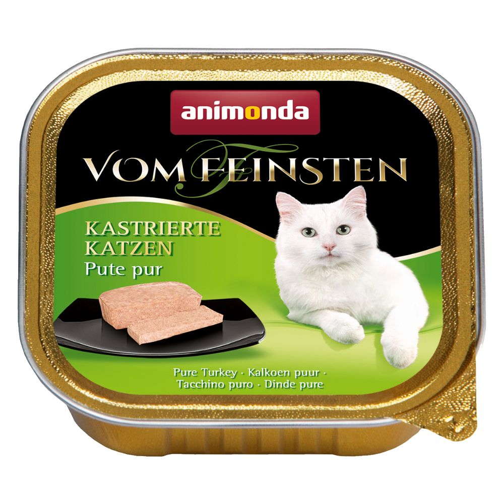 6 x 100g Animonda vom Feinsten Wet Cat Food - 5 + 1 Free!* - Adult Tasty Fillings Chicken, Salmon Fillet & Spinach