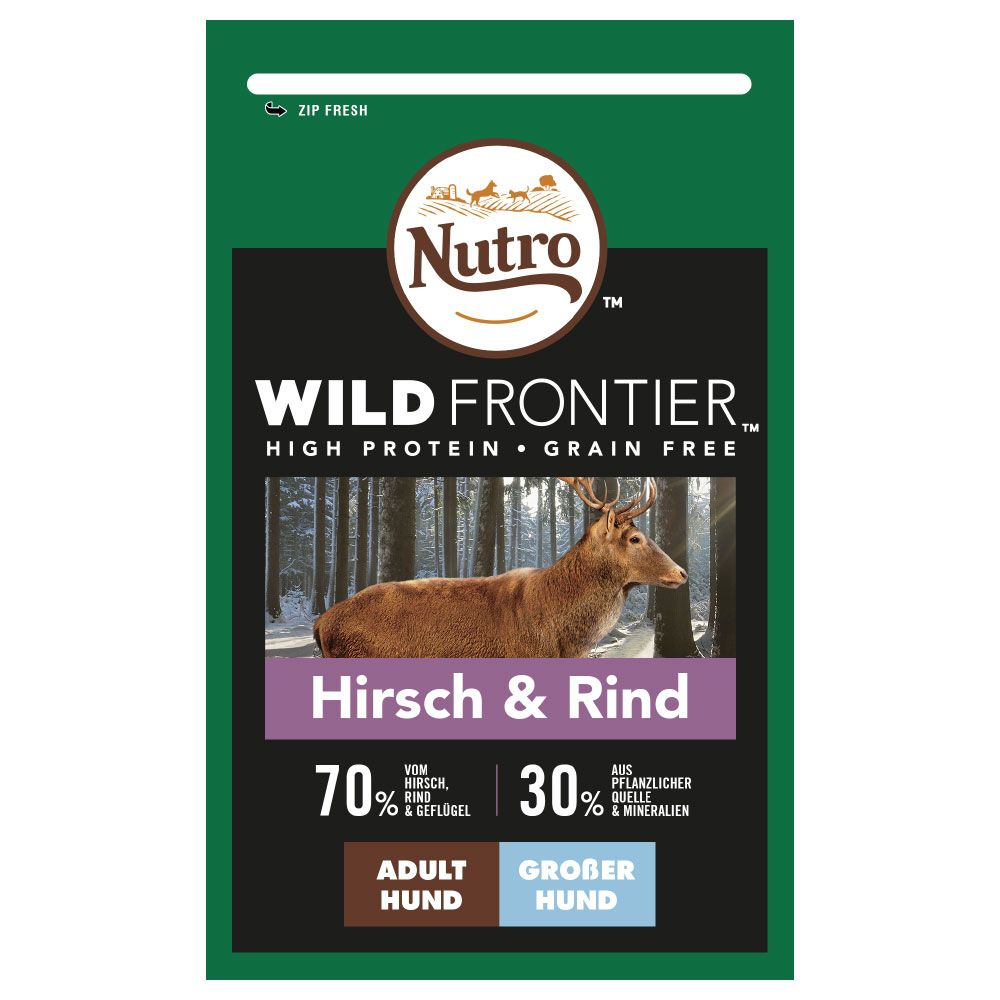 Nutro Wild Frontier Adult Large Deer & Beef - Ekonomipack: 2 x 12 kg