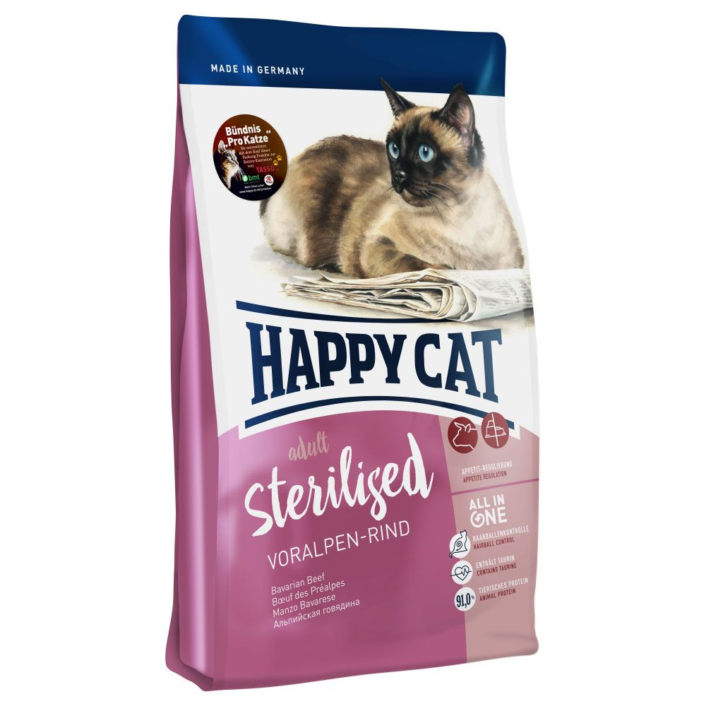 10kg Alpine Beef Sterilised Adult Happy Cat Dry Cat Food