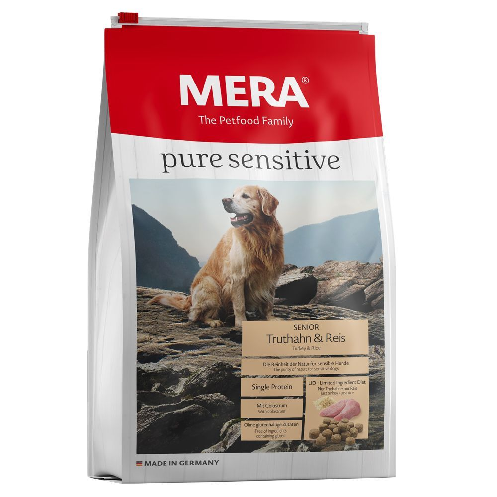 MERA pure sensitive Senior Kalkon & ris - Ekonomipack: 2 x 12,5 kg