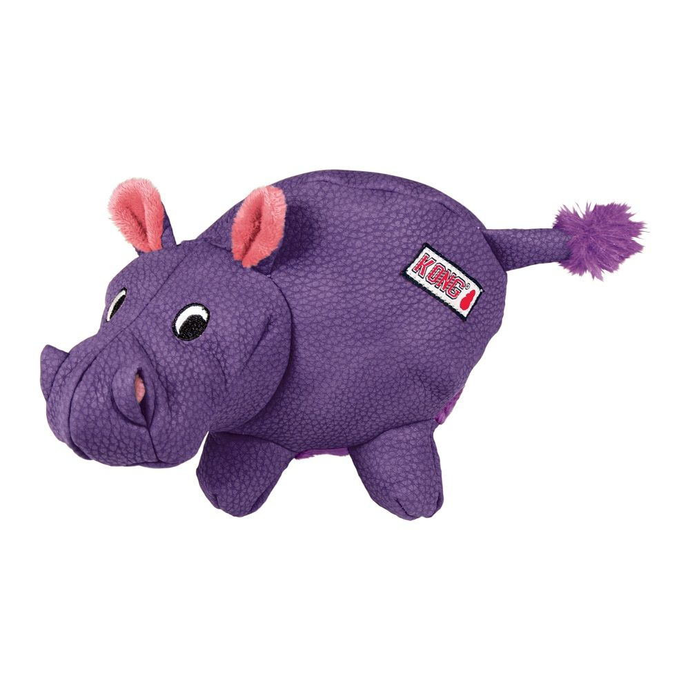KONG Phatz Hippo hundleksak - Stl. M: L 21 x B 12 x H 14 cm