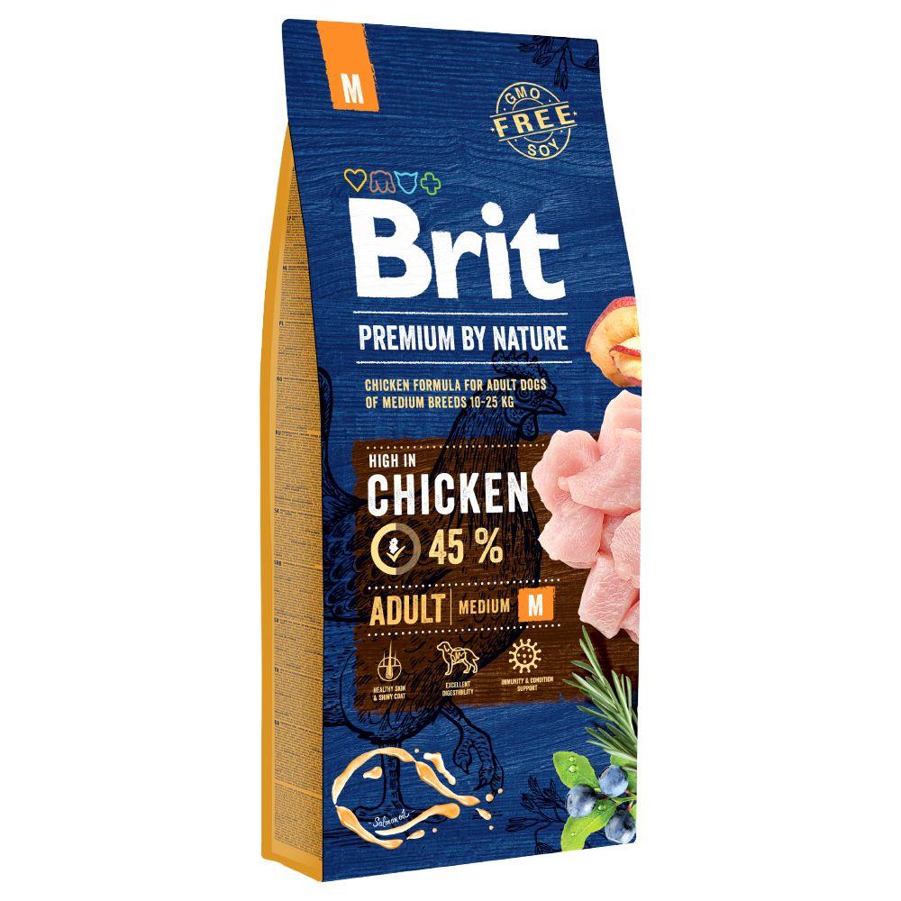 15kg Adult M Brit Premium - Croquettes pour chien