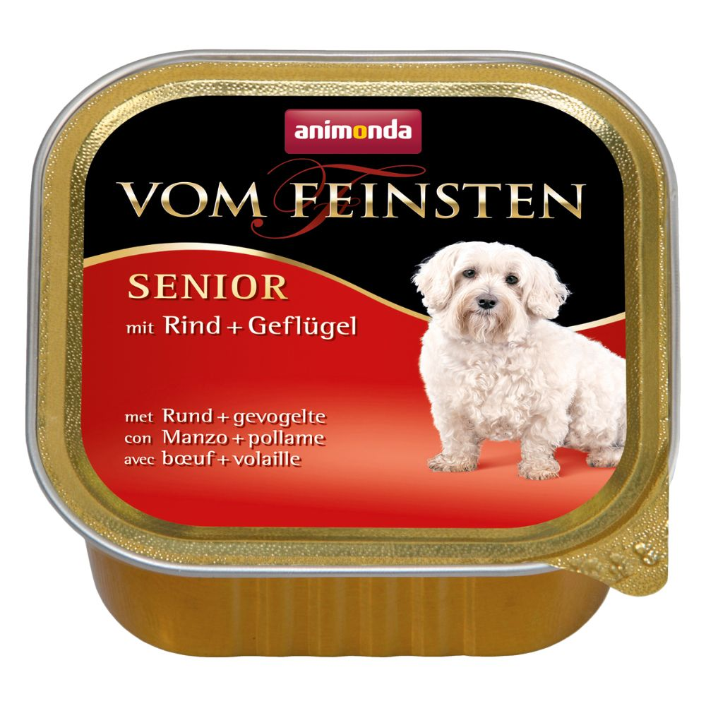 6x150g Senior bœuf, volaille Animonda Vom Feinsten - Pâtée pour chien