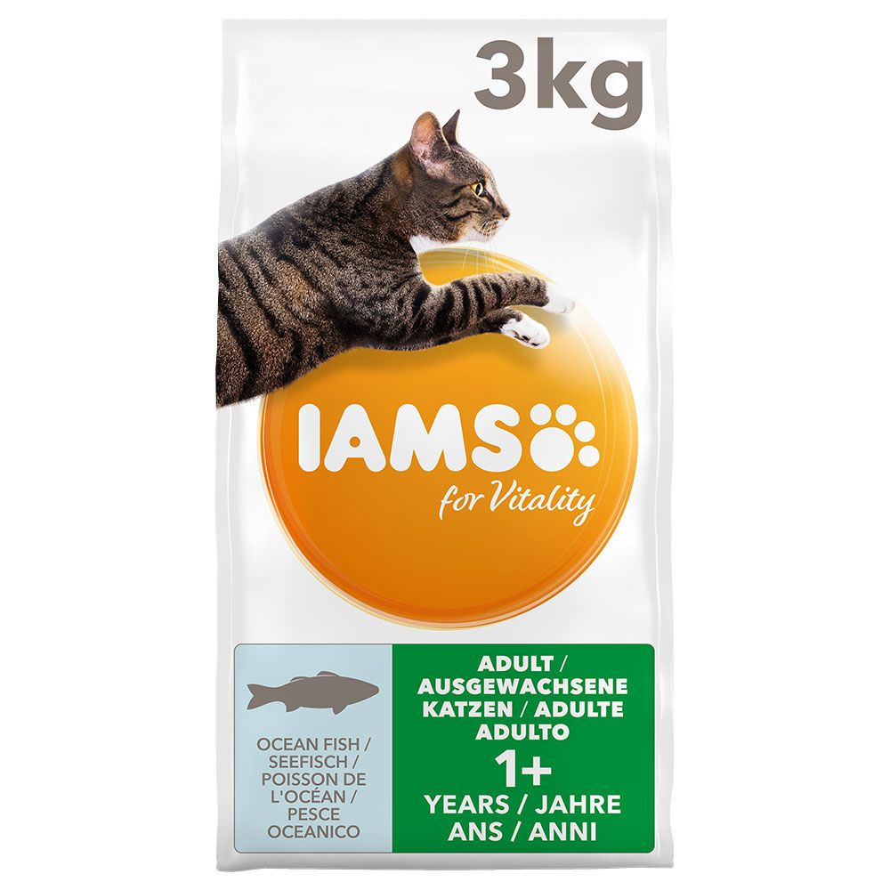2x10kg Fish & Chicken Adult for Vitality IAMS Dry Cat Food