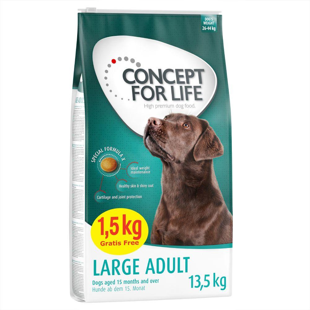 12 + 1,5 kg gratis! 13,5 kg Concept for Life für Hunde im Bonusbag - Large Adult (12 + 1,5 kg)