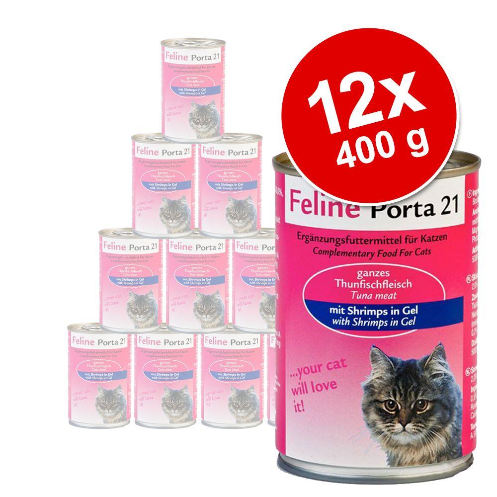 Korzystny pakiet Feline Porta 21, 12 x 400 g - Tuńczyk z wołowiną