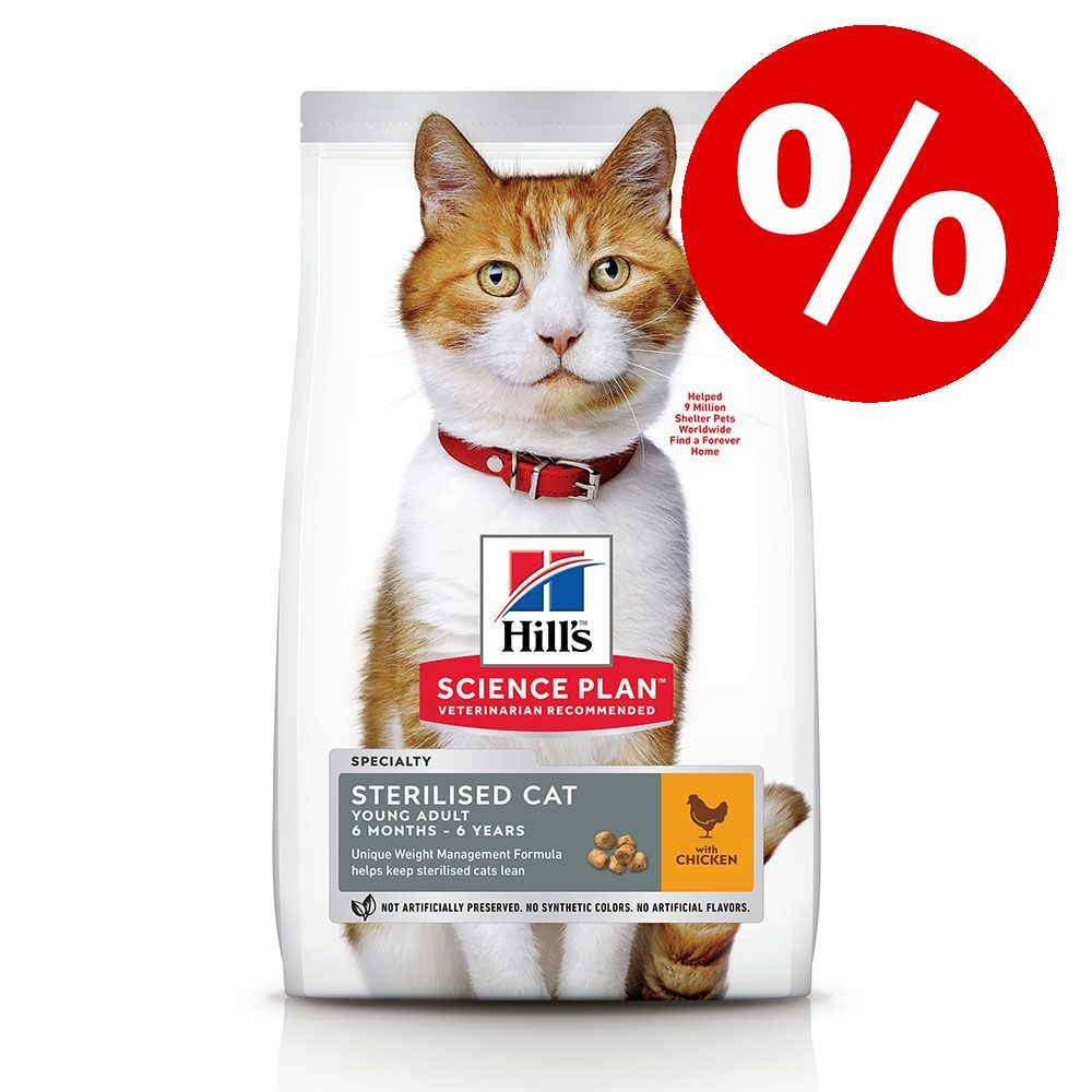 10 % rabatt! Hill's Science Plan torrfoder Adult Sensitive Stomach & Skin Chicken 7 kg