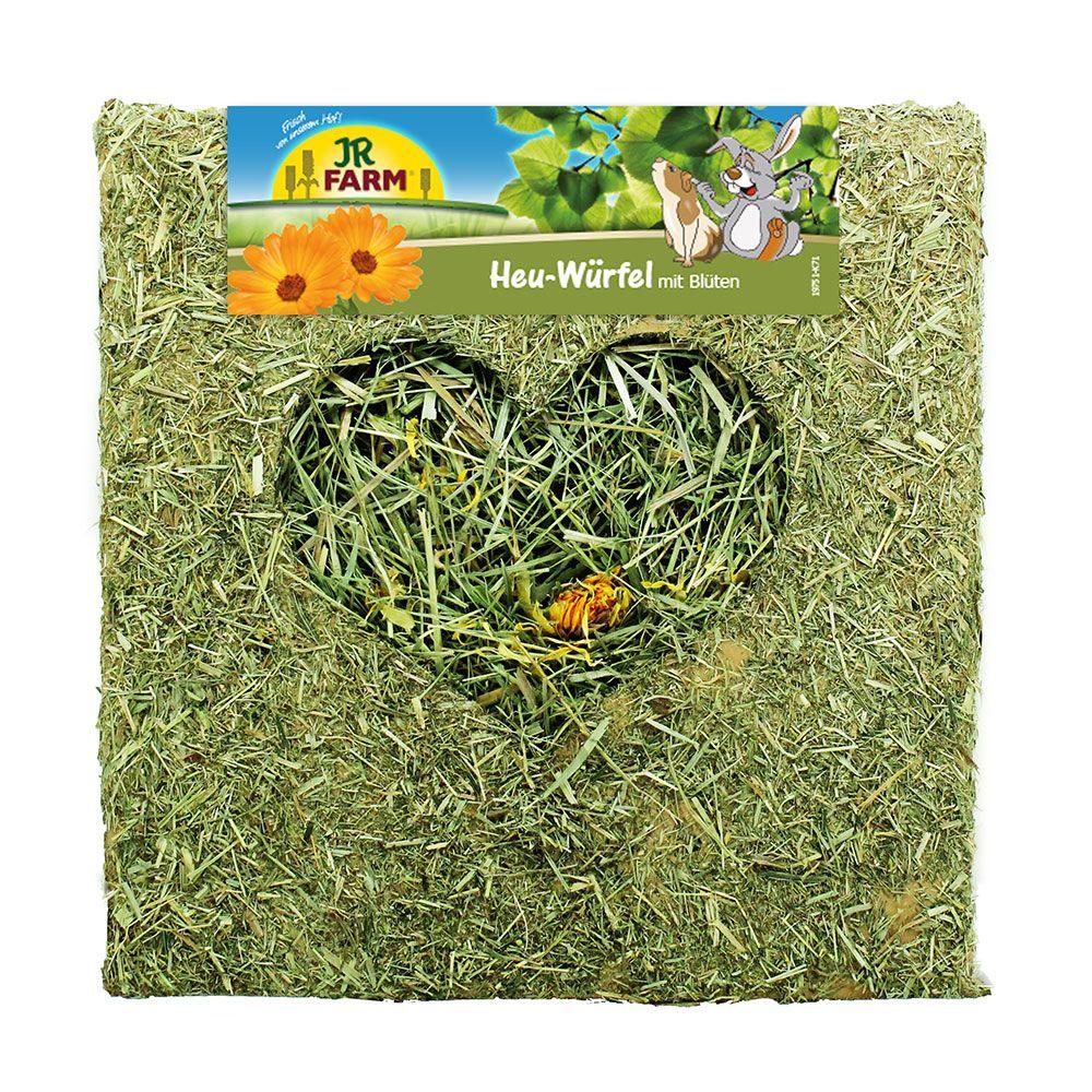 JR Farm Heu-Würfel mit Blüten  - 450 g (groß)