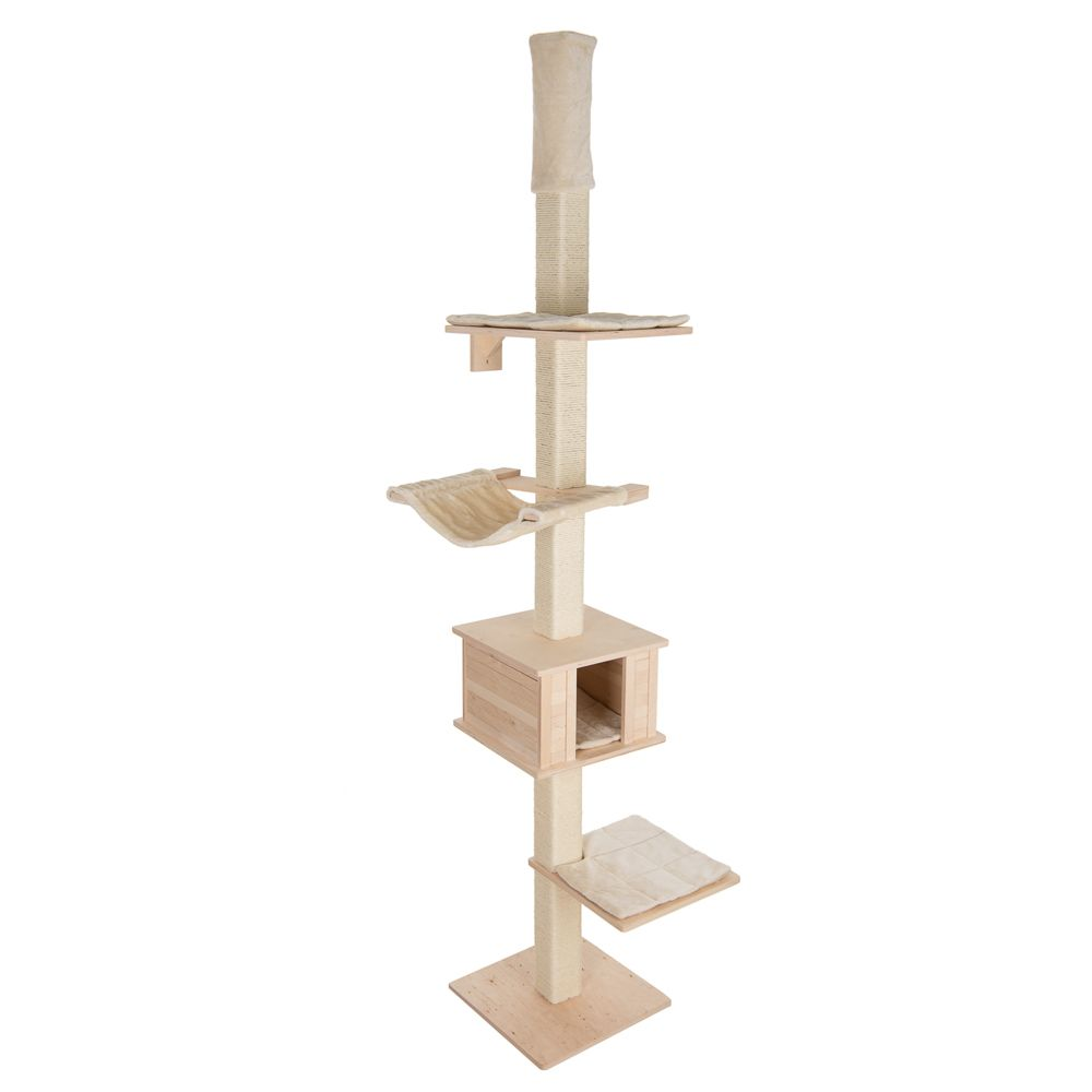 Natural Paradise Quadra Ceiling Cat Tree - Cream
