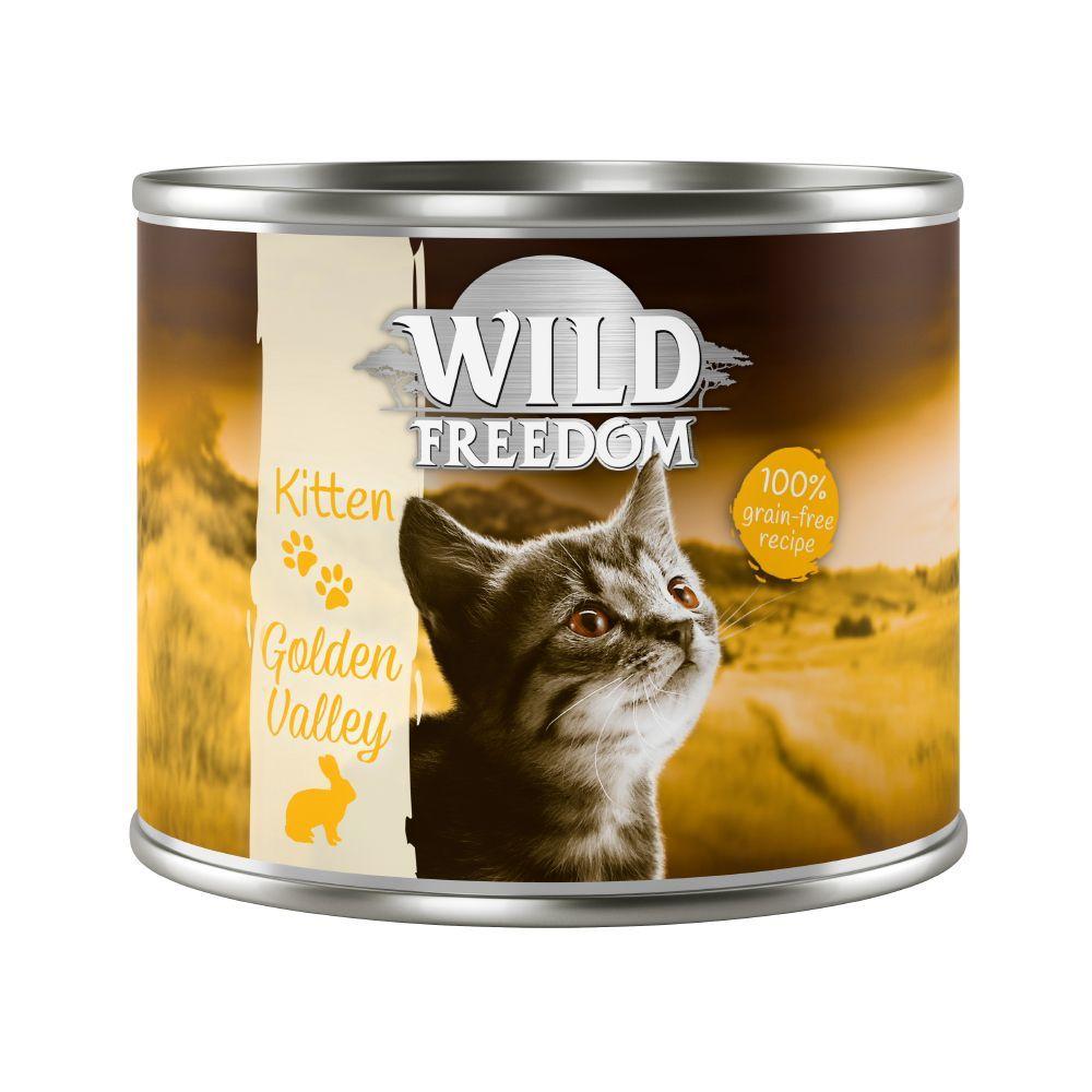 6x200g Kitten Golden Valley lapin, poulet Wild Freedom - Pâtée pour chaton