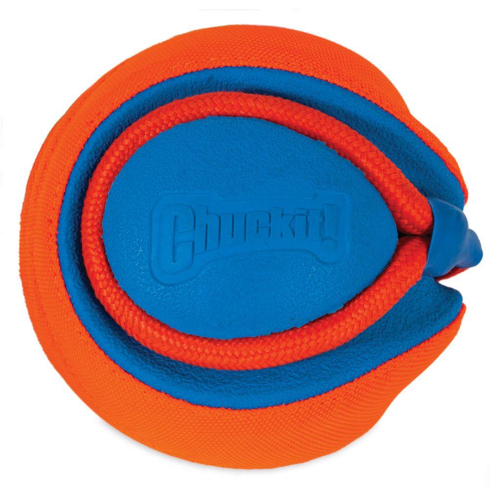 Balle Rope Fetch Chuckit taille L 14 cm de diamètre - Jouet pour chien