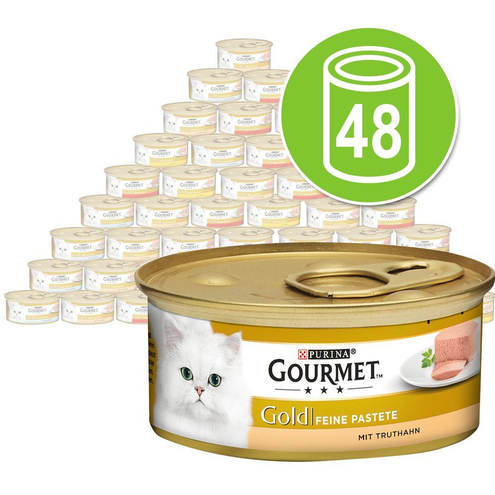 48x85g Les Mousselines truite, tomates Gourmet - Nourriture pour Chat