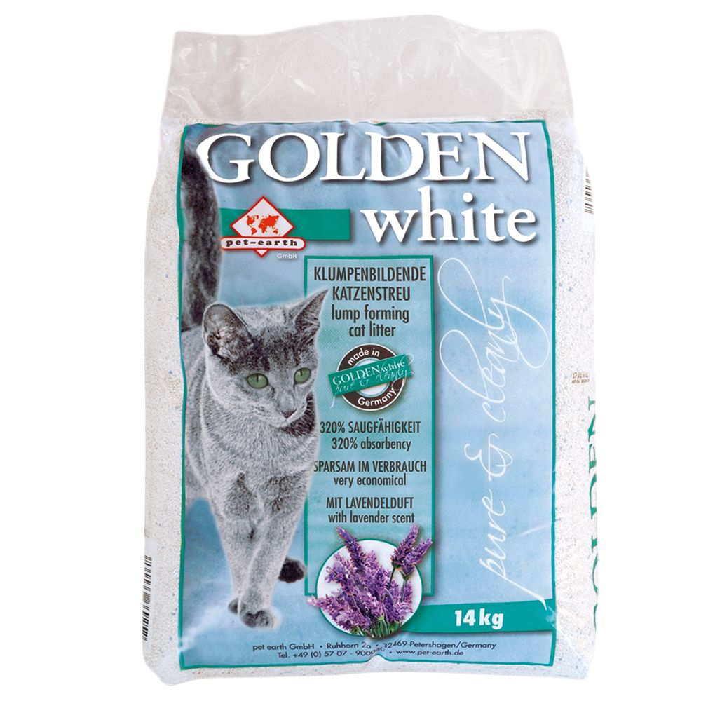 Golden White Cat Litter
