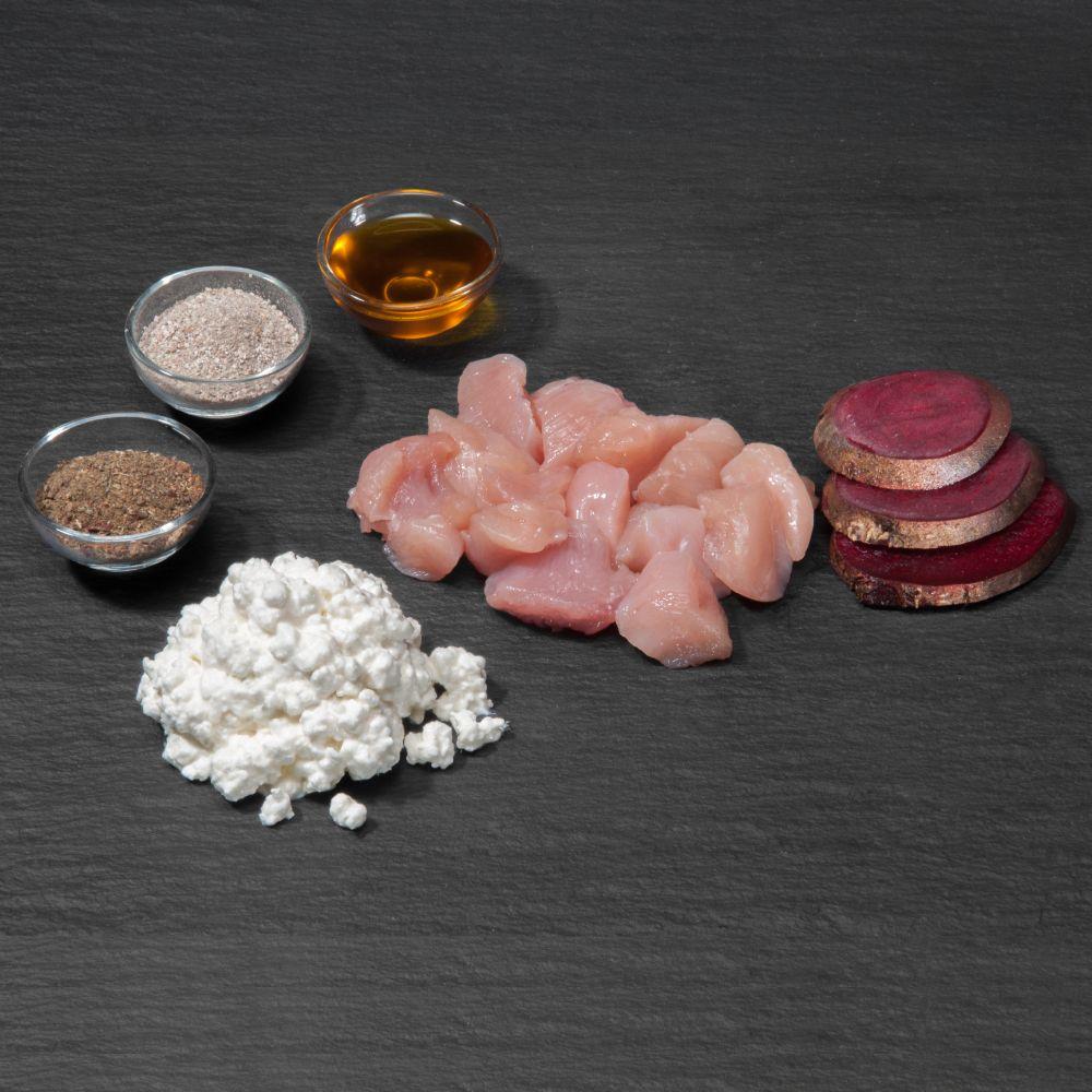 BARF Light Huhn Menü mit Rote Beete und Frischkäse - 40 x 2 x 200 g
