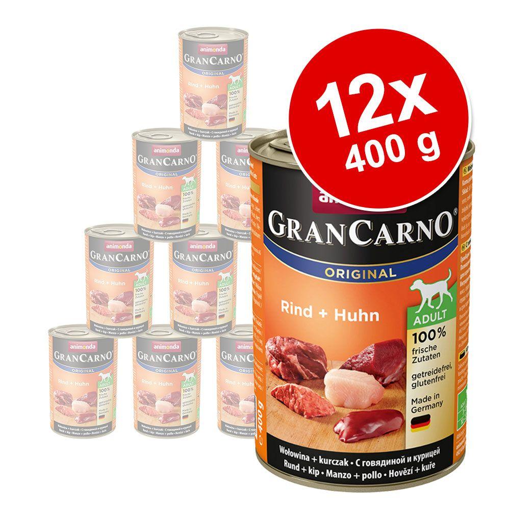 Animonda GranCarno Original Adult 12 x 400 g - Nötkött & hjärta
