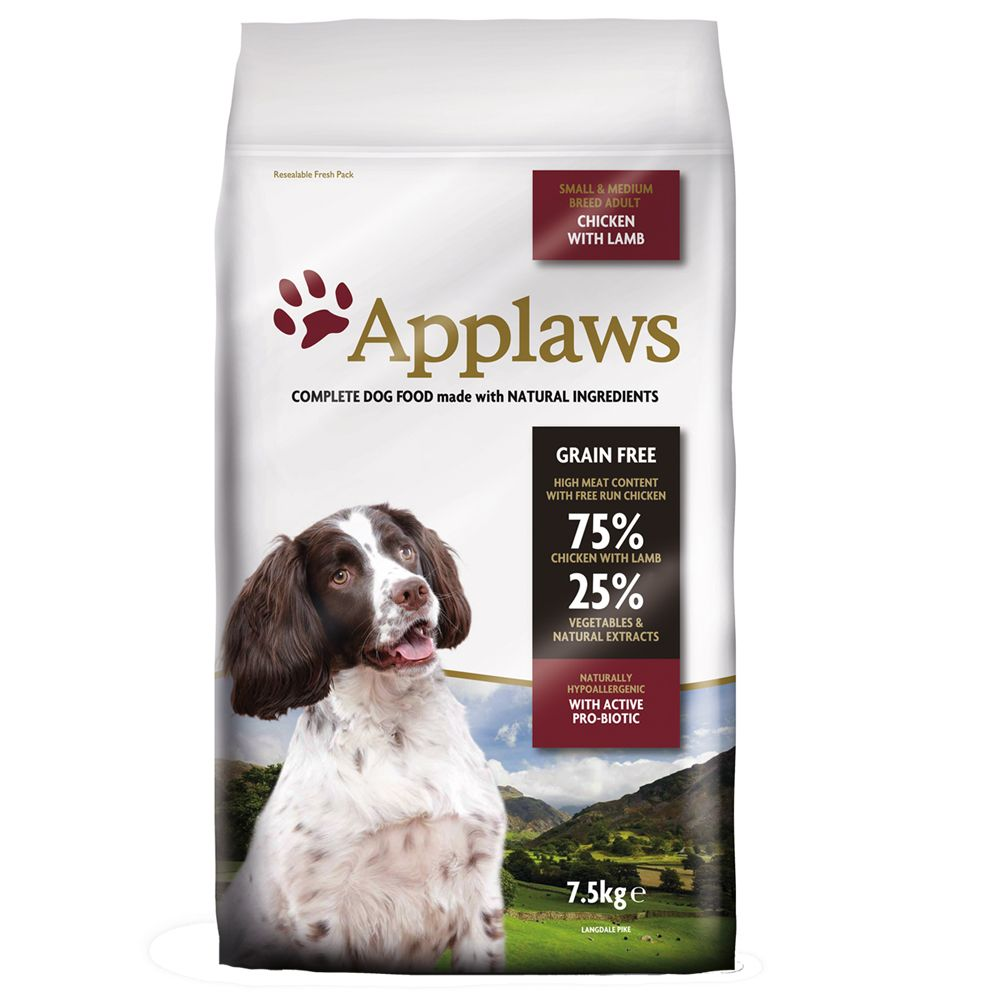 Applaws Adult Small & Medium Breed Chicken & Lamb - Ekonomipack: 2 x 15 kg
