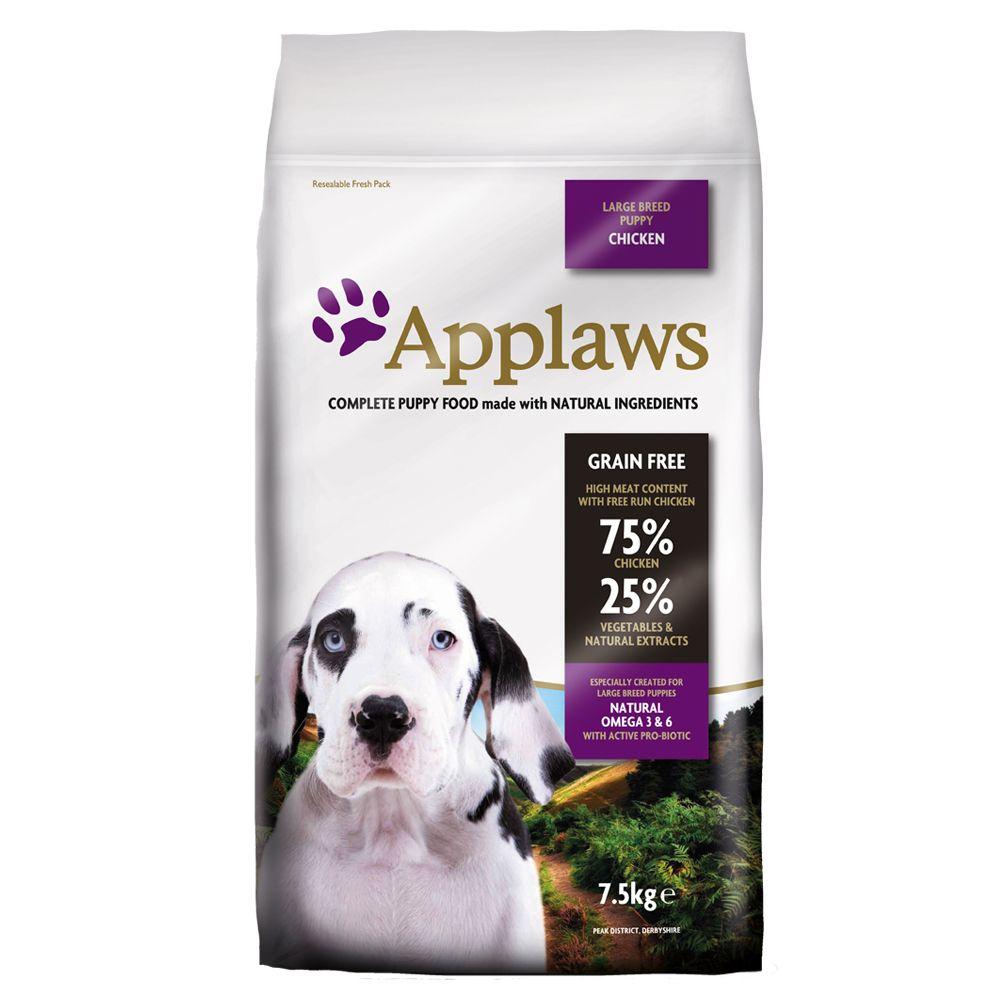 Applaws Puppy Large Breed Chicken - Ekonomipack: 2 x 15 kg