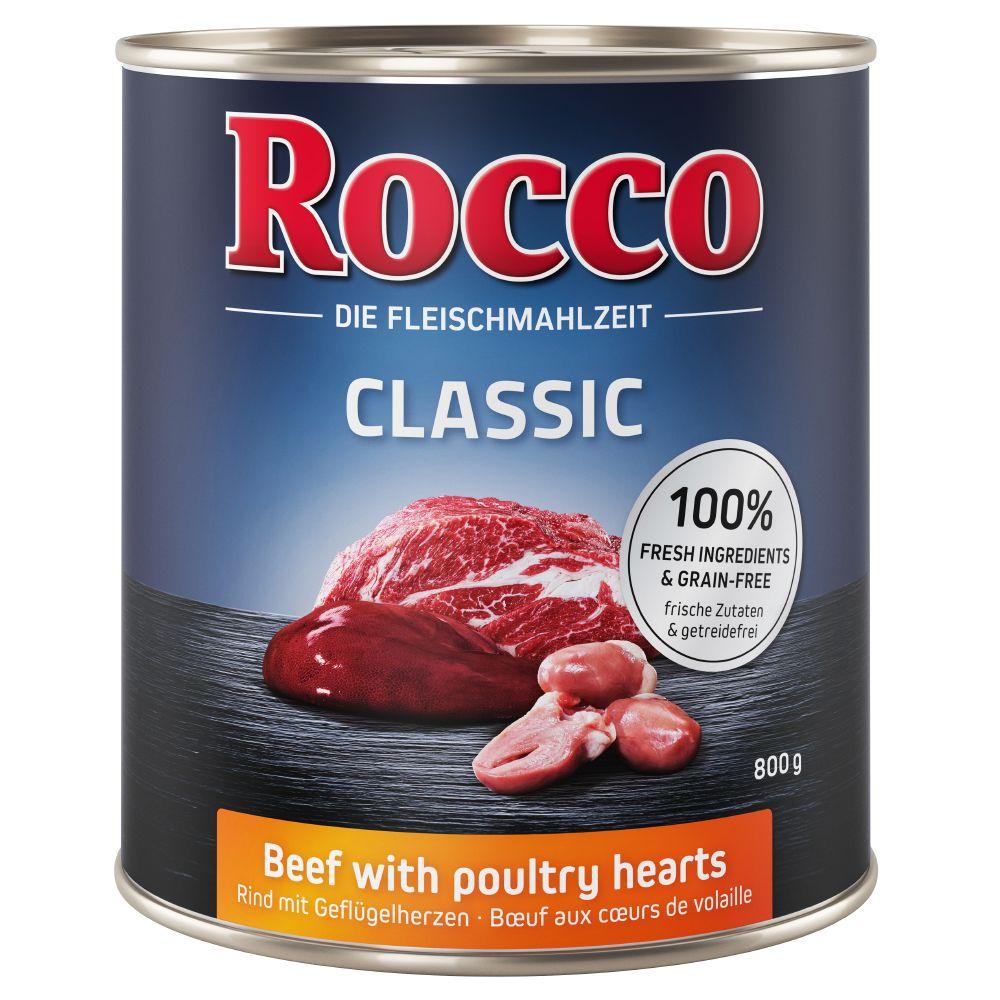 Rocco Classic 6 x 800 g hundfoder - Nötkött & lamm