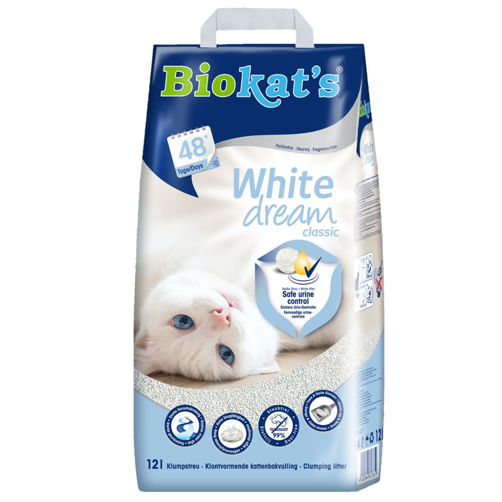 Biokat's White Dream kattsand - 12 l