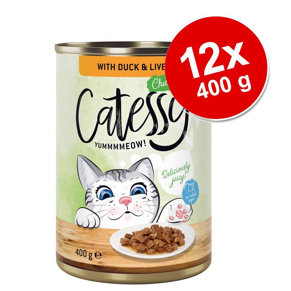 Catessy bitar i sås eller gelé kattmat 12 x 400 g - Kyckling i gelé